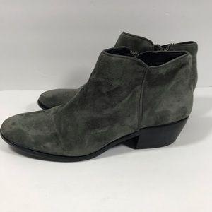 Sam Edelman Shoes - Sam Edelman Petty gray suede ankle booties sz 7